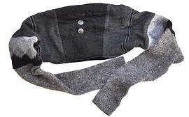 Foulard-boléro à la réglisse noire