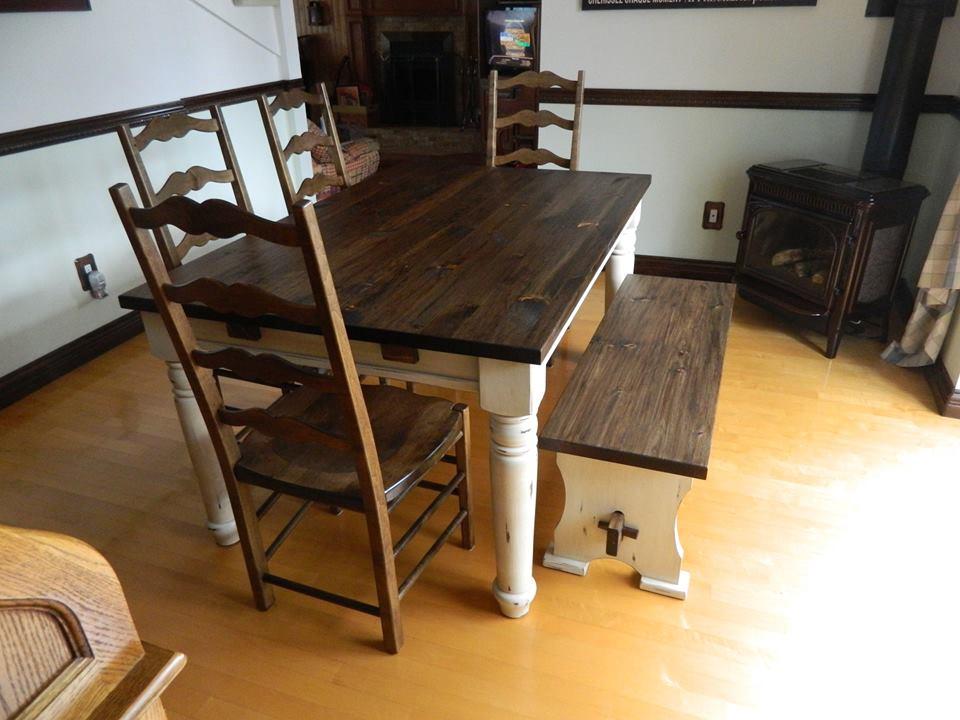 accueil - peinture de lait - meuble sur mesure - finition bois - Mobilier De Cuisine En Bois Massif