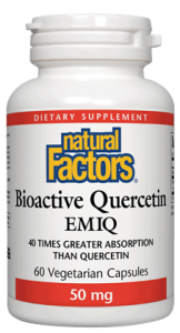 Natural Factors Bioactive Quercetin EMIQ 50 mg 60 Vcaps