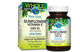 Natural Factors Whole Earth & Sea Sunflower Vitamin E 400 iu 90 gels