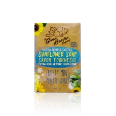 Green Beaver Sunflower Castile Soap Bar Frosty Mint 90 g