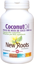 New Roots Coconut Oil 1000 mg 90 gels