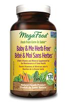 MegaFood Baby & Me Prenatal Herb Free 120 tablets