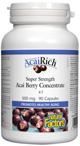 Natural Factors Acai Berry Concentrate 4:1 500 mg 90 caps