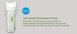 Organyc Beauty Organic Cotton Pads 70-count