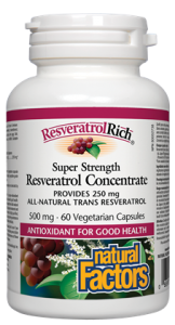 Natural Factors Resveratrol Concentrate 500 mg 60 Vcaps