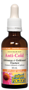 Natural Factors ECHINAMIDE Anti-Cold Echinacea & Goldenseal Tincture 50 ml