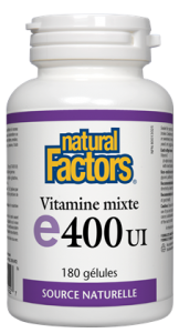 Natural Factors Vitamin E Mixed tocopherols 400 iu 90 gels