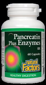Natural Factors Pancreatin plus Enzymes 60 caps
