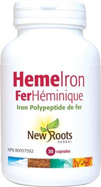 New Roots Heme Iron 30 caps