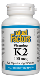 Natural Factors Vitamin K2 100 mcg 60 Vcaps