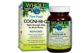 Natural Factors Whole Earth & Sea COGNI-HI-Q 60 gels