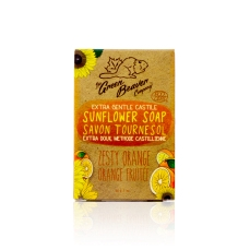 Green Beaver Sunflower Castile Soap Bar Zesty Orange 90 g