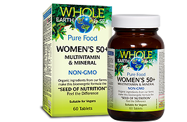 Natural Factors Whole Earth & Sea Women's 50+ Multivitamin & Mineral 60 tablets