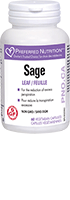 Preferred Nutrition Sage 120 Vcaps