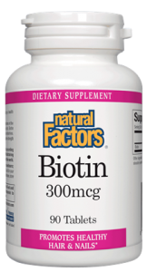 Natural Factors Biotin 300 mcg 90 tablets