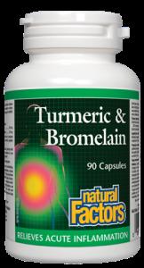 Natural Factors Turmeric & Bromelain 90 caps