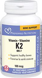 Preferred Nutrition Vitamin K2 100 mcg 60 Vcaps