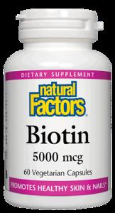 Natural Factors Biotin 5000 mcg 60 Vcaps