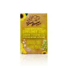 Green Beaver Sunflower Castile Soap Bar Cilantro Mint 90 g
