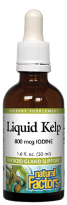 Natural Factors Fresh Kelp Extract 800 mcg of Iodine 50 ml