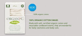 Organyc Beauty Organic Cotton Swabs 200-count