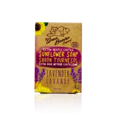 Green Beaver Sunflower Castile Soap Bar Lavender 90 g
