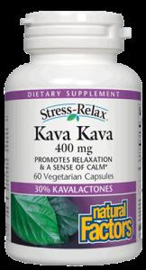 Natural Factors Stress-Relax Kava Kava 400mg 60 vegetarian capsules