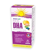 Renew Life Kids DHA Norwegian Gold 60 chewable softgels