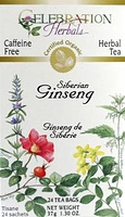 Celebration Herbals Siberian Ginseng (Eleuthero) Root Herbal Tea 24 Tea Bags / 37 g