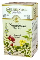 Celebration Herbals Dandelion Root Herbal Tea 24 Tea bags / 21 g