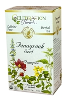 Celebration Herbals Fenugreek Seed Herbal Tea 24 Tea Bags / 43 g