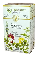 Celebration Herbals Hibiscus with Tropical Fruit Herbal Tea 24 Tea Bags / 28g
