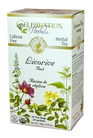 Celebration Herbals Licorice Root Herbal Tea 24 Tea Bags / 28 g