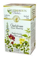 Celebration Herbals Oatstraw Green Flowering Herbal Tea 24 Tea Bags / 30 g