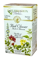 Celebration Herbals Red Clover Leaf & Blossom Herbal Tea 24 Tea Bags / 24 g