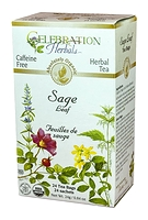 Celebration Herbals Sage Leaf 24 Tea Bags / 24 g