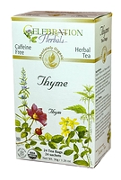 Celebration Herbals Thyme Leaf Herbal Tea 24 Tea Bags / 36 g
