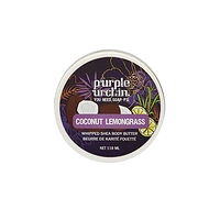 Purple Urchin Whipped Shea Body Butter Coconut Lemongrass 118ml