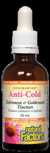 Natural Factors ECHINAMIDE Anti-Cold Echinacea & Goldenseal Tincture 100 ml
