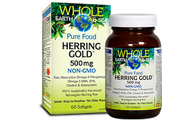 Natural Factors Whole Earth & Sea Herring Gold 500 mg 60 gels
