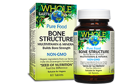 Natural Factors Whole Earth & Sea Bone Structure 60 tablets