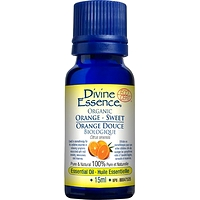 Divine Essence Essential Oil Orange Sweet Organic - Citrus sinensis 15 ml
