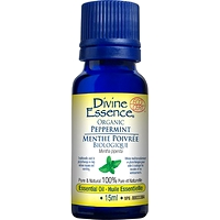 Divine Essence Essential Oil Peppermint Organic - Mentha x piperita 15 ml