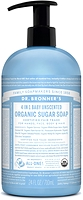 Dr. Bronner's Organic 4-In-1 Pump Soap Baby Unscented 710ml