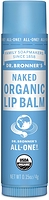 Dr. Bronner's Organic Lip Balm Naked Unscented 4 g