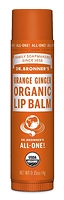 Dr. Bronner's Organic Lip Balm Orange Ginger 4 g