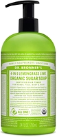 Dr. Bronner's Organic 4-In-1 Pump Soap Lemongrass Lime 710ml
