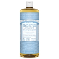 Dr. Bronner's Pure-Castile Liquid Soap - Baby Unscented 237ml-946ml