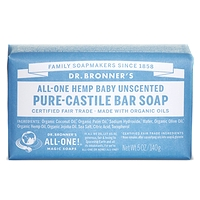Dr. Bronner's Pure-Castile Bar Soap - Baby Unscented 140g